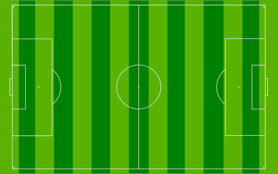 Soccer, Pitch, Field, Diagram, Green, Grass, Line