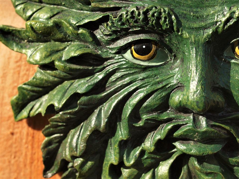 Green Man, Ornament, Garden, Face