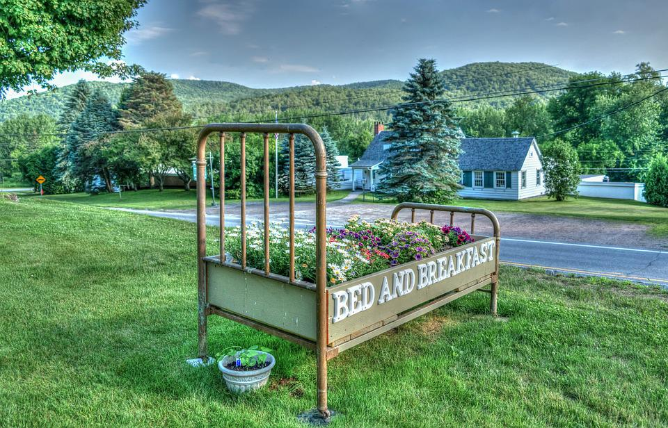 Vermont, Green Mountains, Bed, Flowers