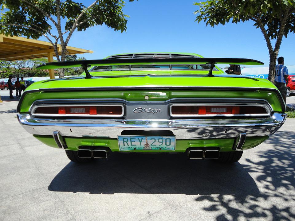Free Photo Green Muscle Car Retro Challenger Rear Vintage Max Pixel