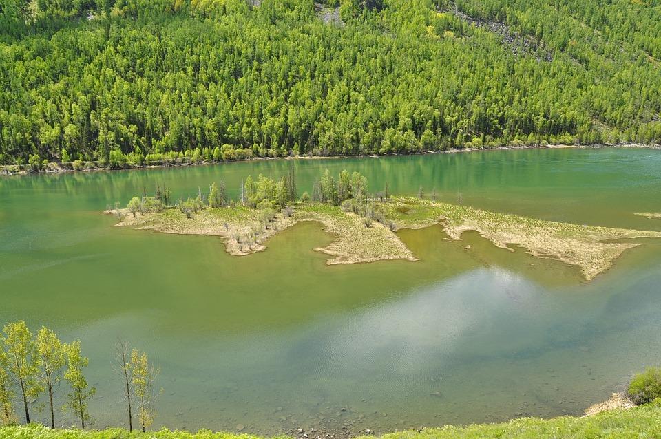 Kanas, Lakefront, Natural, Green, Day, Landscape
