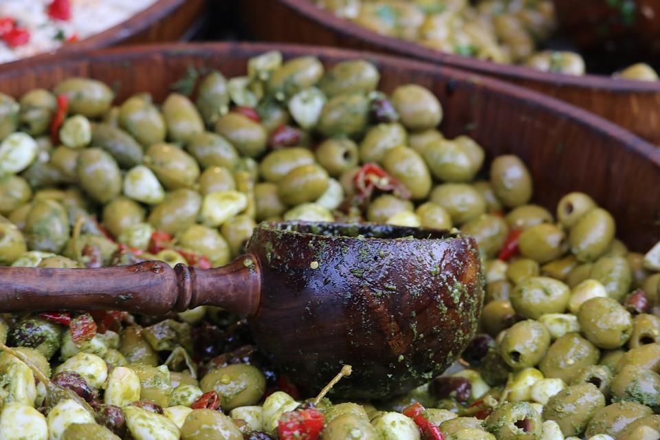 Olive, Olivier, Mediterranean, Green Olives, Market