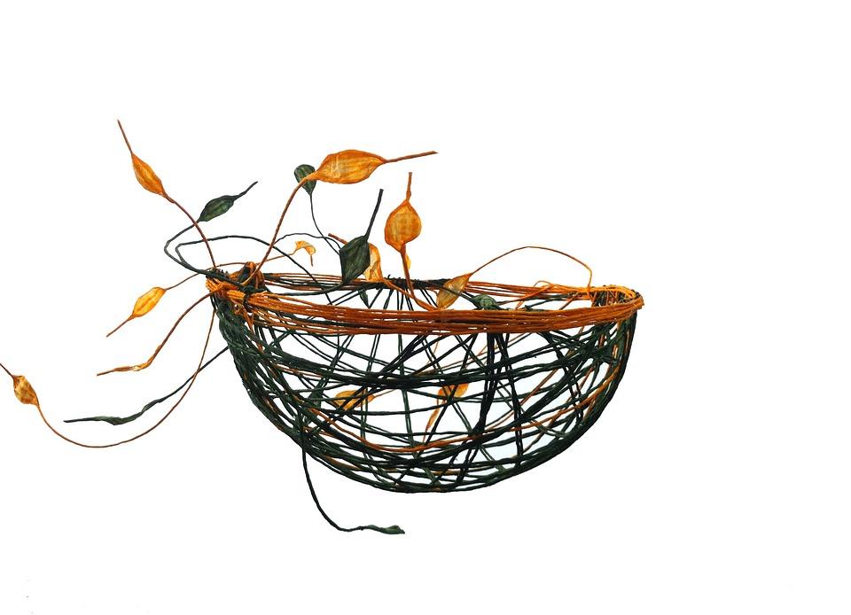 Paper Bowl, Orange, Green, Handmade