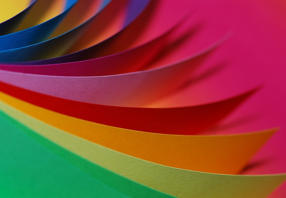 Paper, Colorful, Color, Loose, Green, Yellow, Red