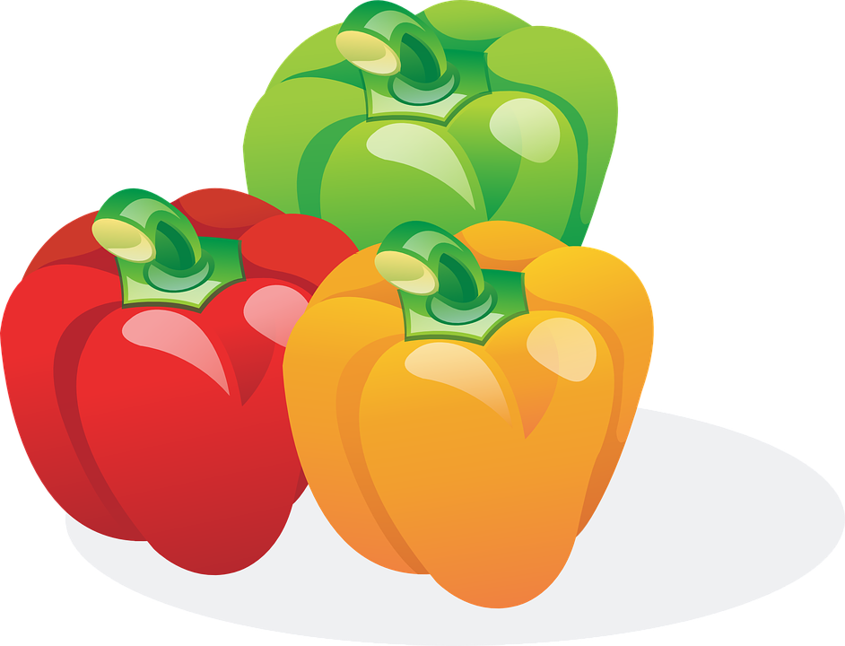 Paprika, Red, Orange, Green, Vegetables, Food