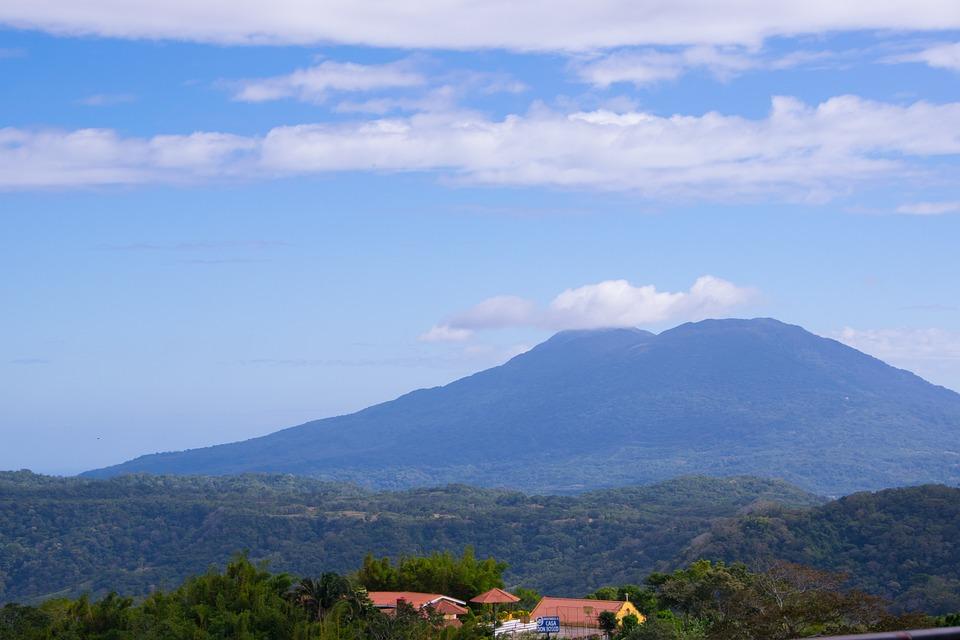 Volcano, Green, Forest, Nature, Landscape, Park