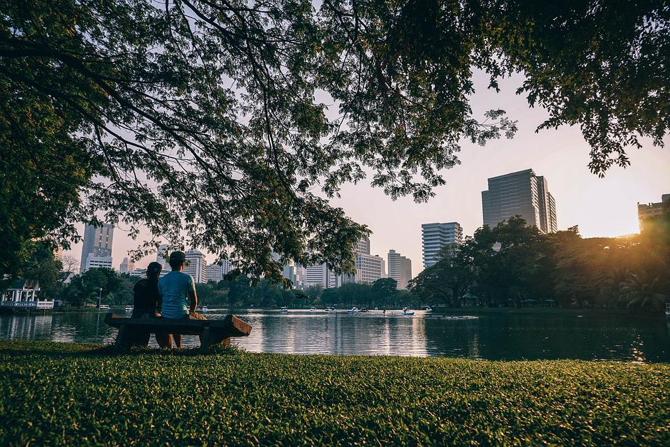 Asia, Bangkok, City, Garden, Green, Rest, Park, People