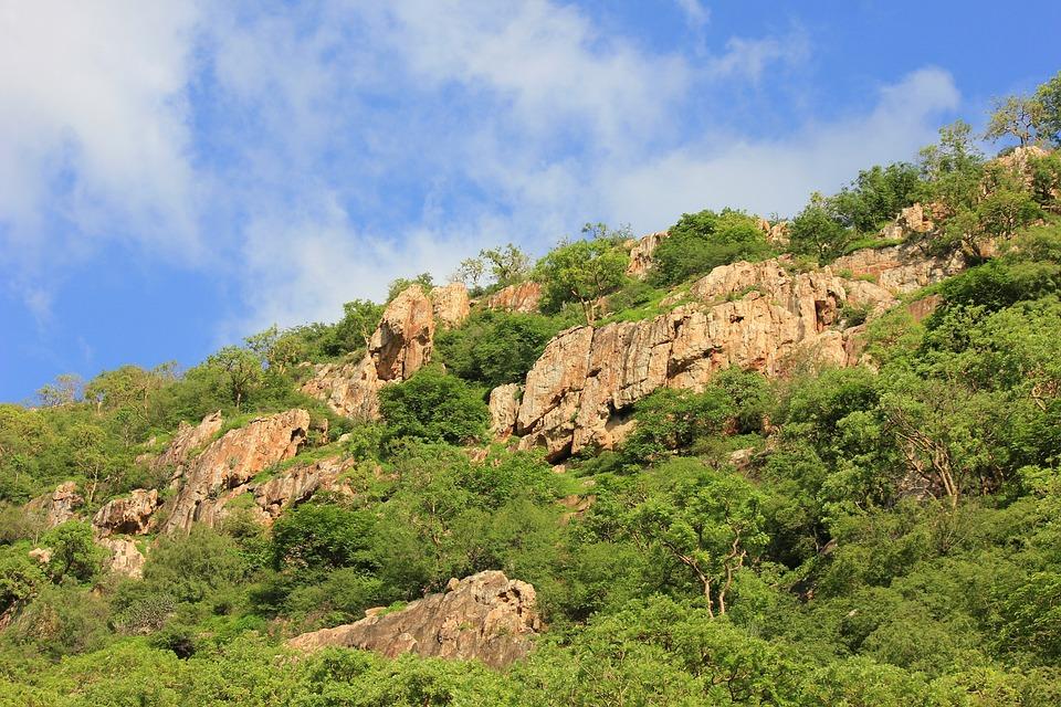 Mountains, Green, Plants, Rocks, Stones, Rocky