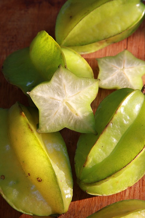 Starfruit, Green, Fruit, Ripe, Fresh, Natural, Sour