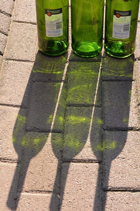 Green Shadow, Bottles, Glass