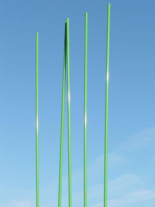 Rods, Green, Artwork, Modern Art, Art, Abstract, Sky