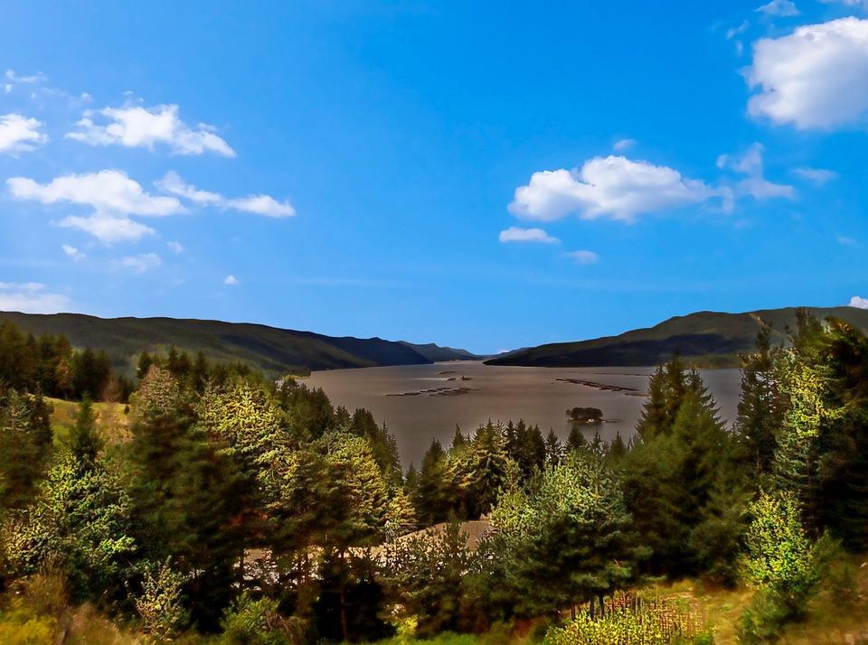 Landscape, Horizon, Nature, Sky, Blue, Green
