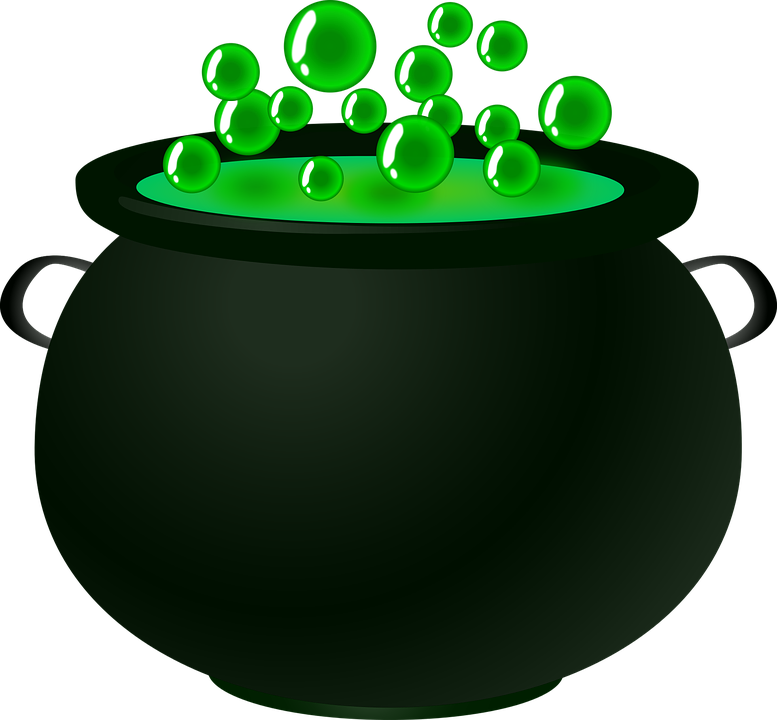 Bubble, Cauldron, Green, Magic, Potion, Spell, Witch