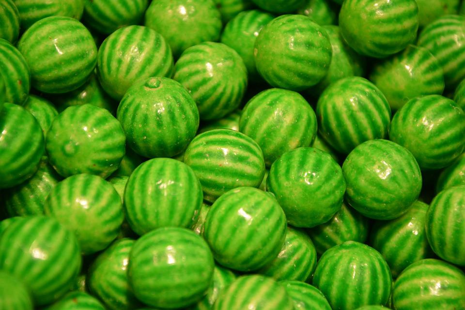 Sweets, Delicacies, Candy, Green, Delight, Power