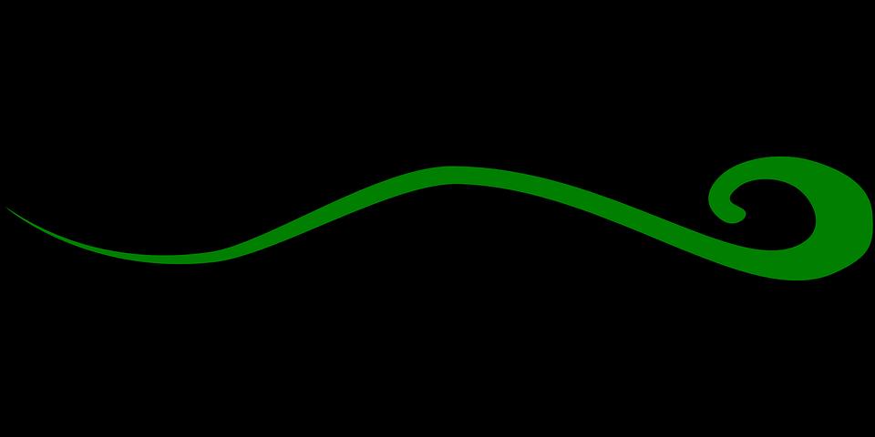 Swirl, Green, Abstract, Decoration