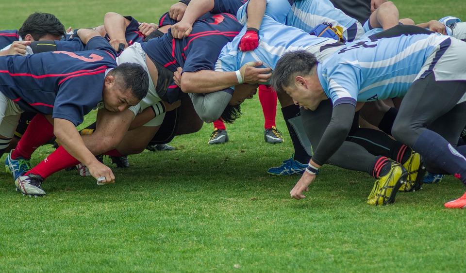 Sport, Rugby, Team, Match, Scrum, Green Team