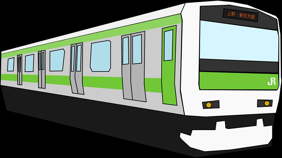 Train, Transportation, Tram, Green, Japan, Tokyo