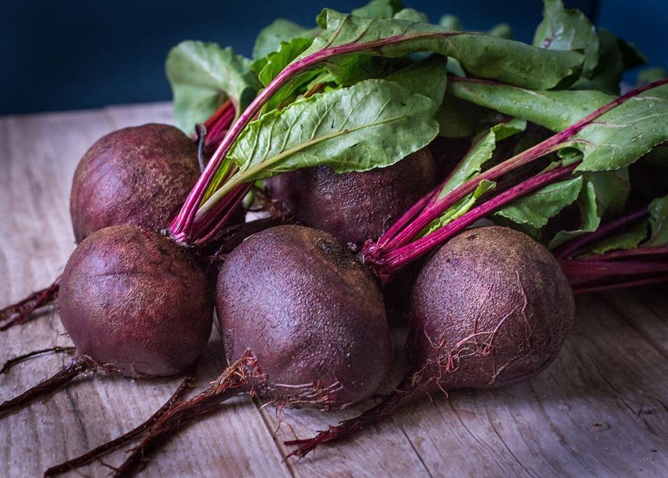 Beets, Purple, Green, Vegetables