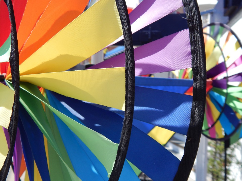 Colors, Red, Yellow, Green, Bright, Colorful, Pinwheel