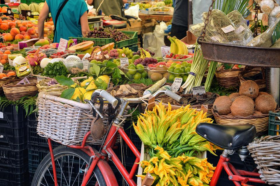 Market, Italy, Fruit, Vegetables, Greengrocer, South