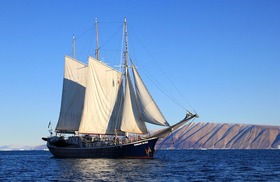 Sailboat, Ship, Sailing, Greenland, Boat