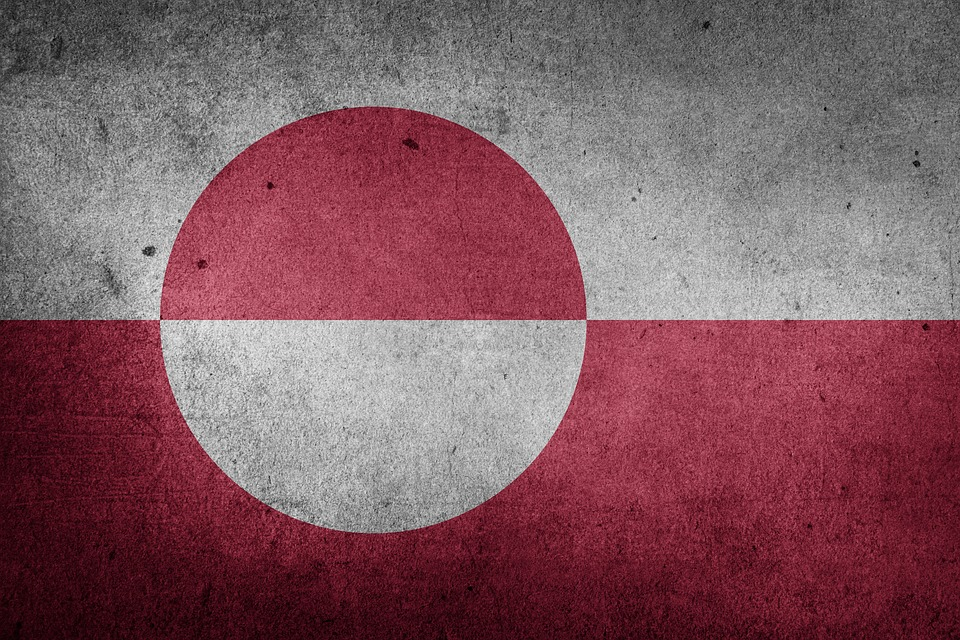 Flag, Greenland, Europe, National Flag, Grunge