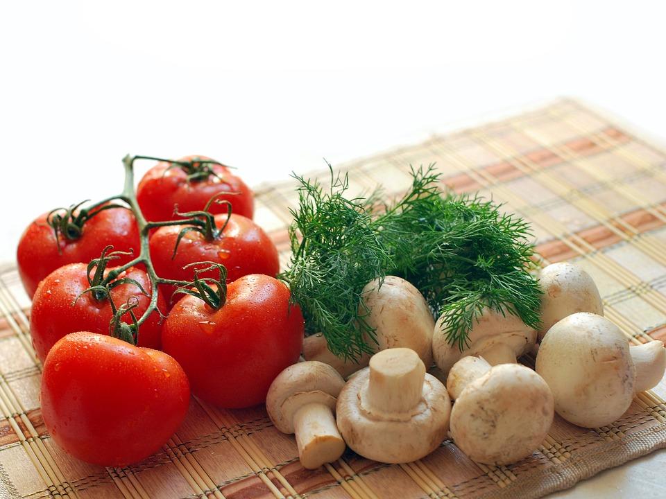 Mushrooms, Tomatoes, Greens, Nutrition, Tasty