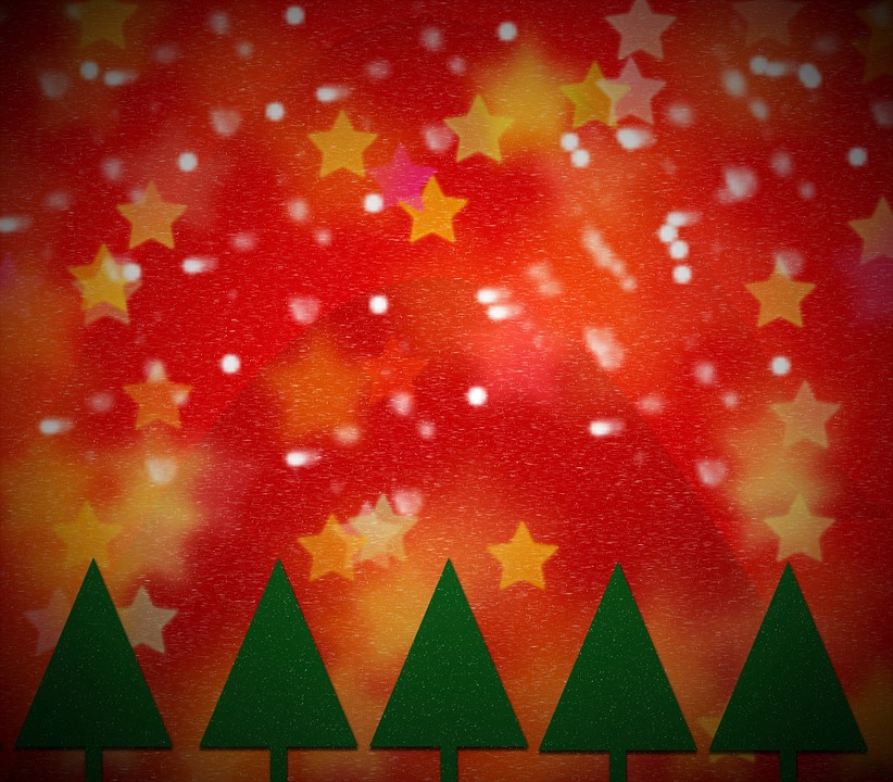 Greeting Card, Christmas Tree, Background, Structure