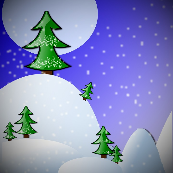 Fir Tree, Background, Greeting Card, Decor, Abstract