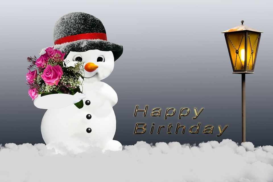 Free photo greeting card winter birthday card snow man flowers max birthday card winter snow man greeting card flowers m4hsunfo