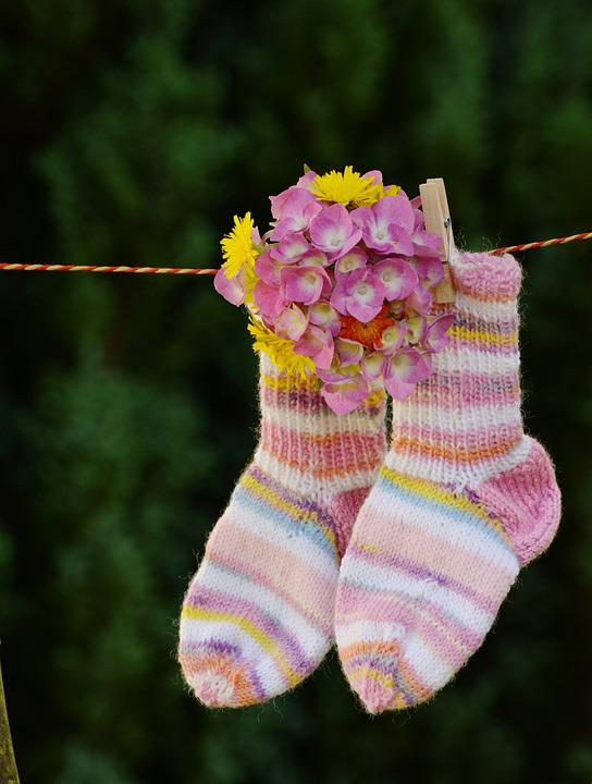 Ankle Socks, Children Socks, Knitted, Greeting, Baby