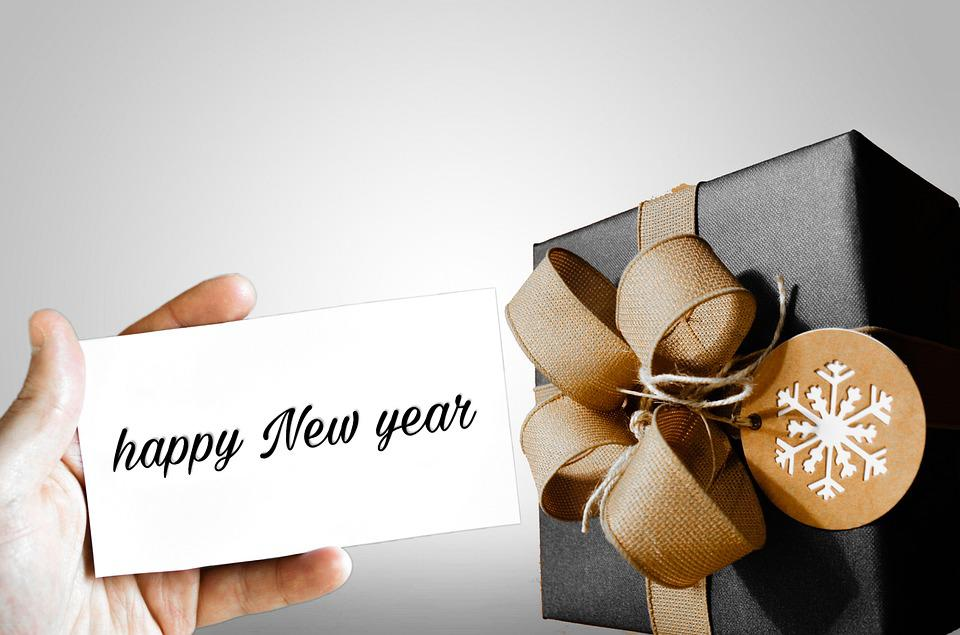 Newyear, Present, Gift, Happy New Year, Hand, Greeting