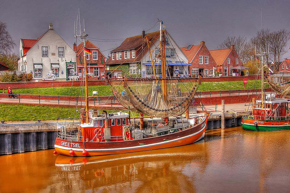 Cutter, Greetsiel, North Sea, Port, Ship