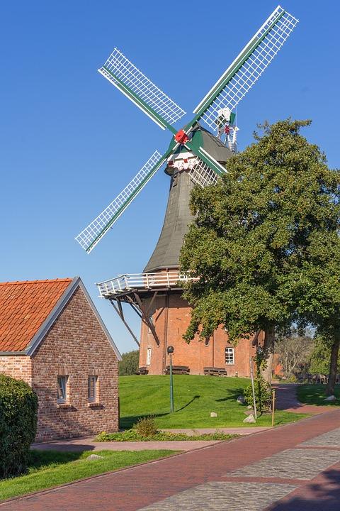 Greetsiel, Mill, Old, Historically, Windmill, Landscape