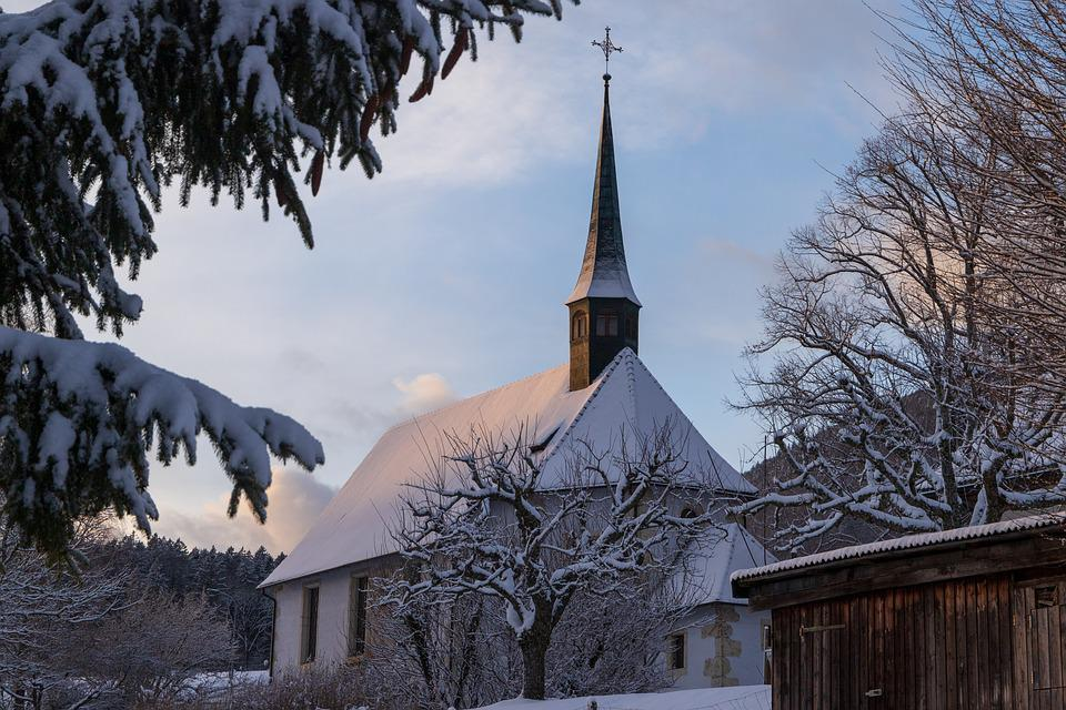 Chappell, Grenchen, Chapel, Winter, Church, Wintry