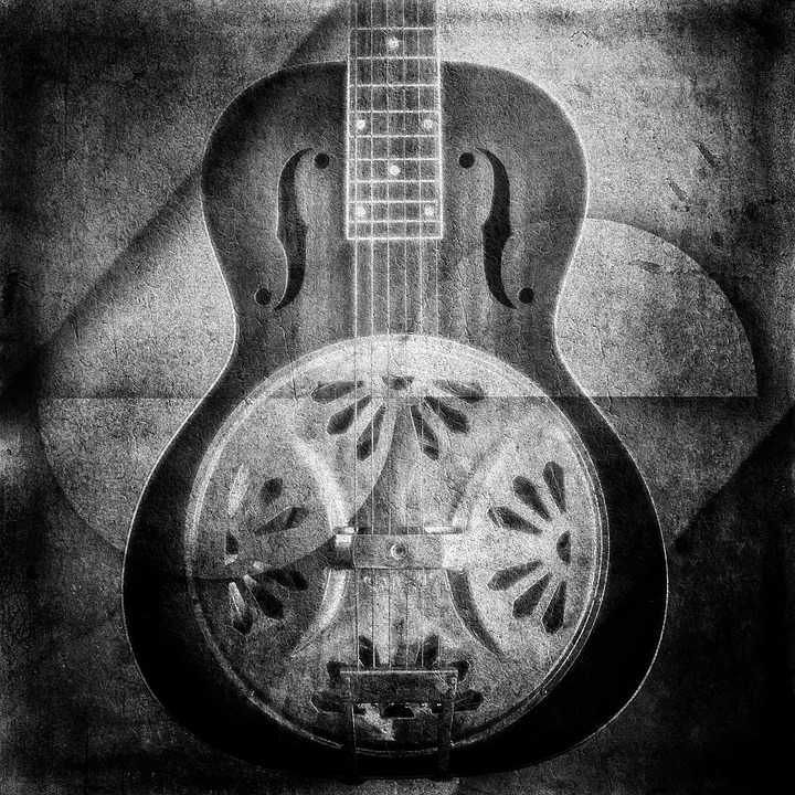 Guitar, Abstract, Gretsch, Gray Guitar