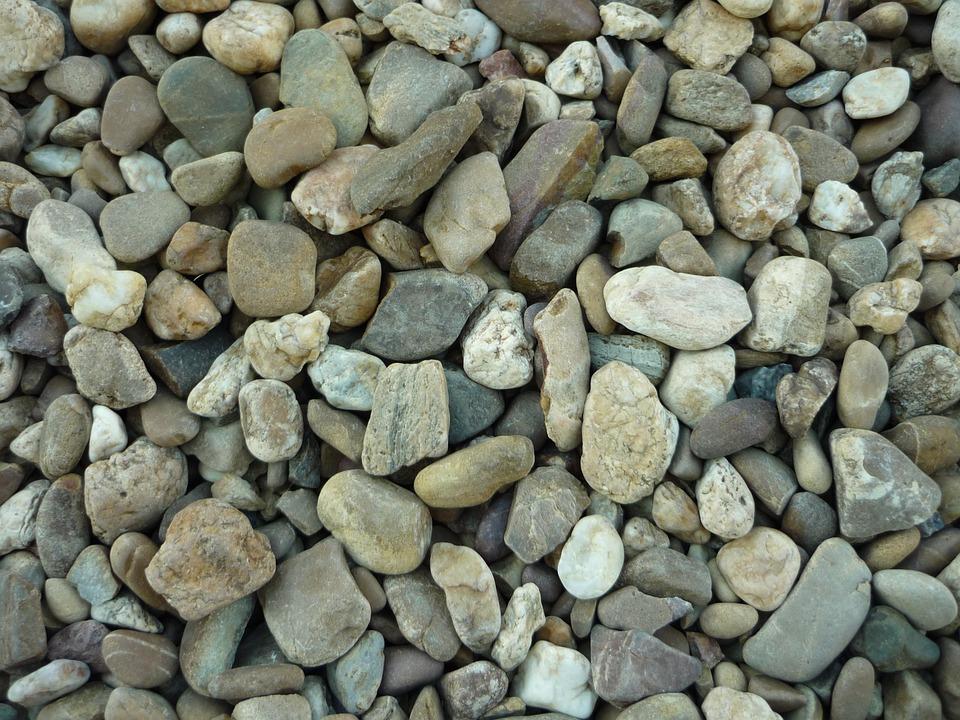 Gravel, Stones, Boulders, Arid, Grey, Soil, Decorative
