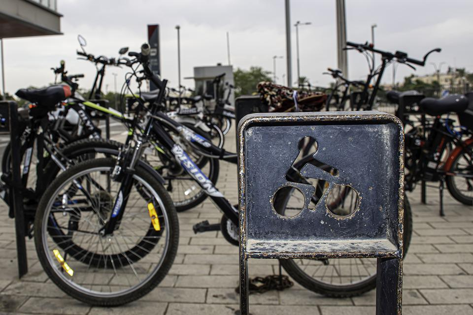 Bicycle, Parking, Grey Day, Cycle, Bike, Transport