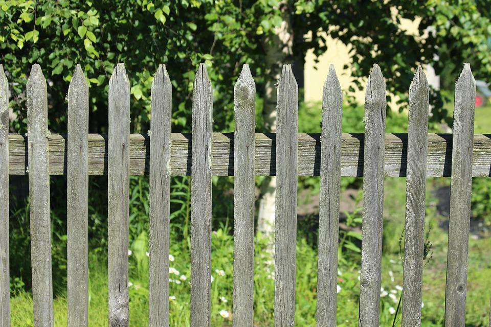 Fence, Village, Grey, Summer, The Surrounding Area