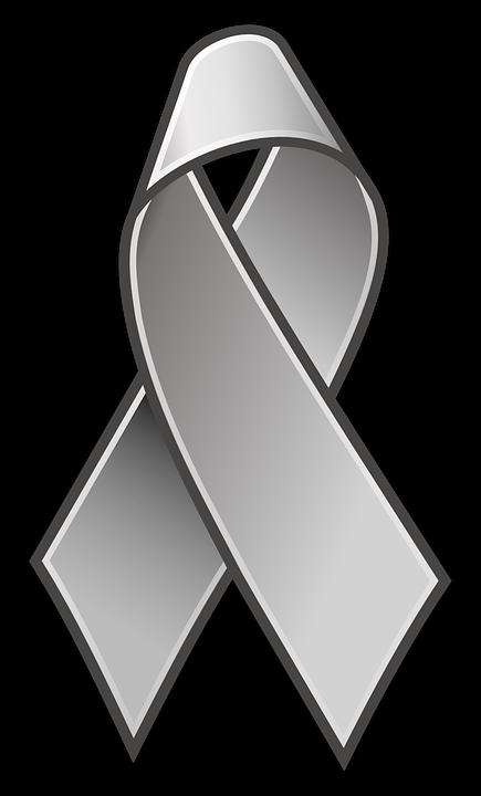 Ribbon, Awareness, Lace, Grey