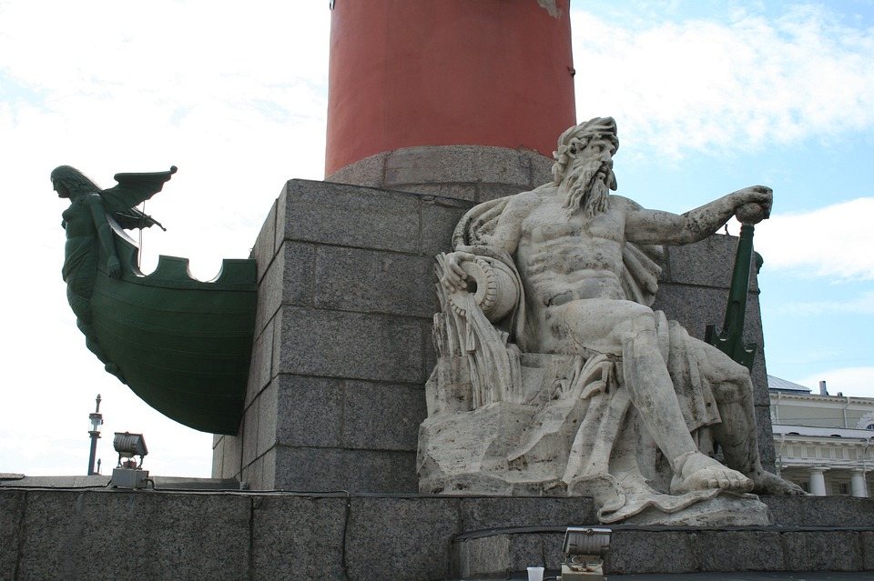 Rostral Column, Red, Base, Grey, Statue, Male Figure