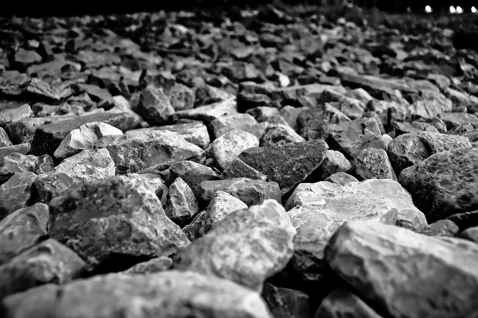 Black And White, Gravel, Grey, Hard, Landscaping, Rocks