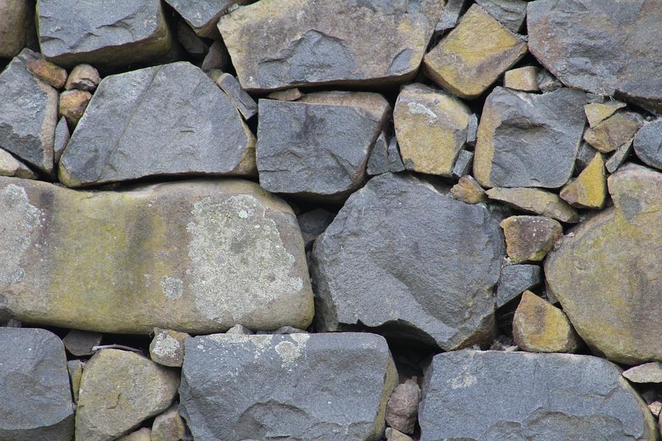 Rocks, Stone, Stonewall, Grey