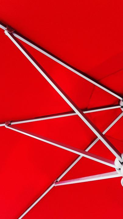 Red, Minimalist, Grey, White