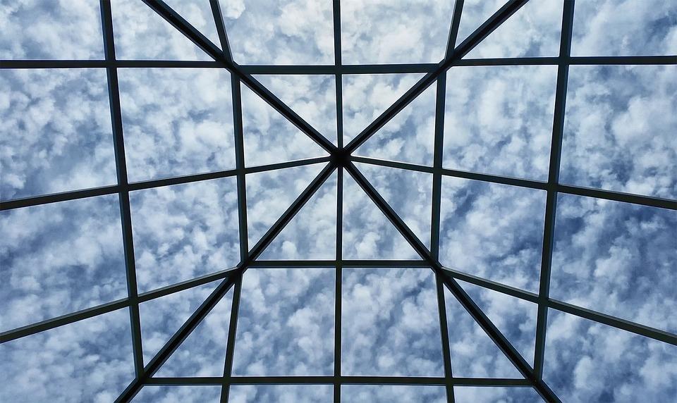 Grid, Sky, Clouds, Cloudscape