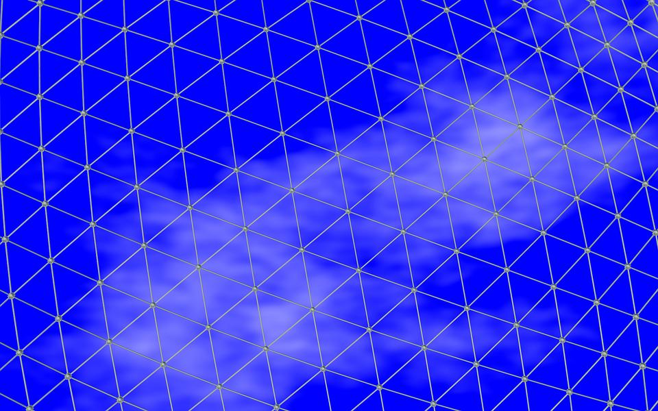 Sky, Clouds, Grid
