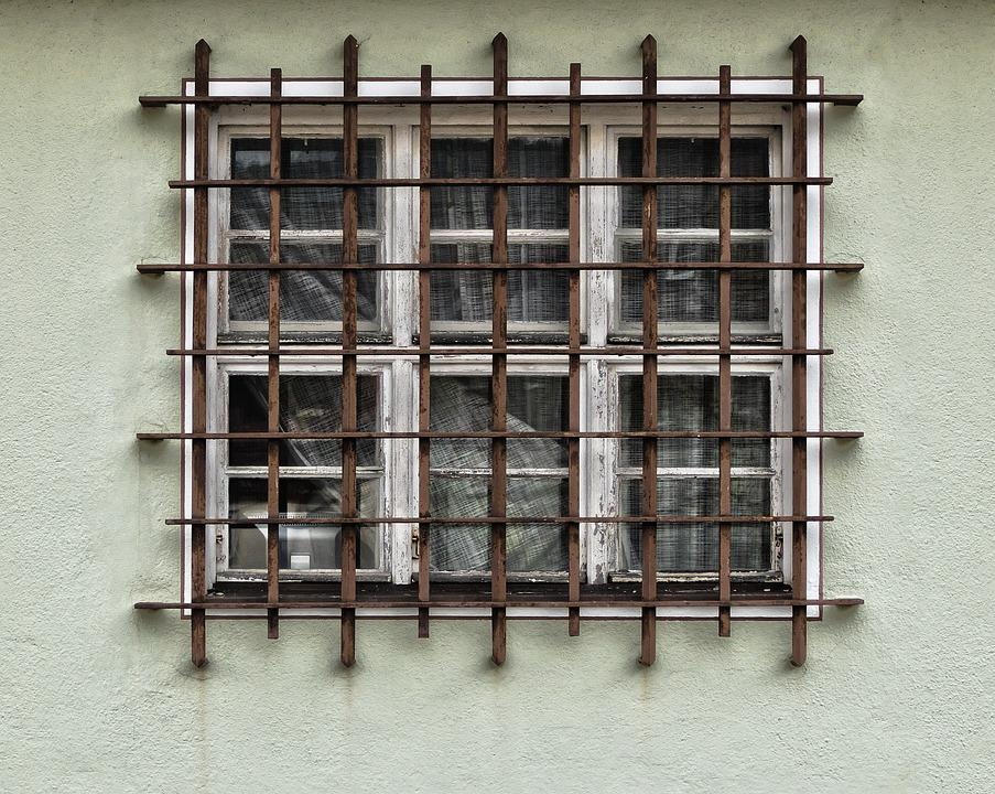 Facade, Grid, Window, Grate, Iron Railings