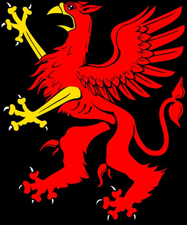 Red, Bird, Griffin, Animal