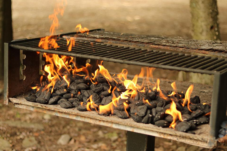 Grill, Cooking, Fire, Outdoors