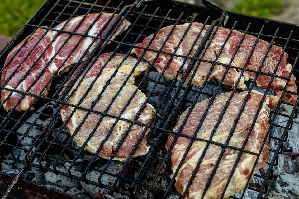 Meat, Pork, Grille, Nutrition, Frying, Coals, Picnic